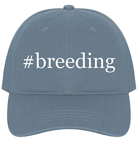 The Town Butler #breeding - A Nice Comfortable Adjustable Hashtag Dad Hat Cap, Light Blue