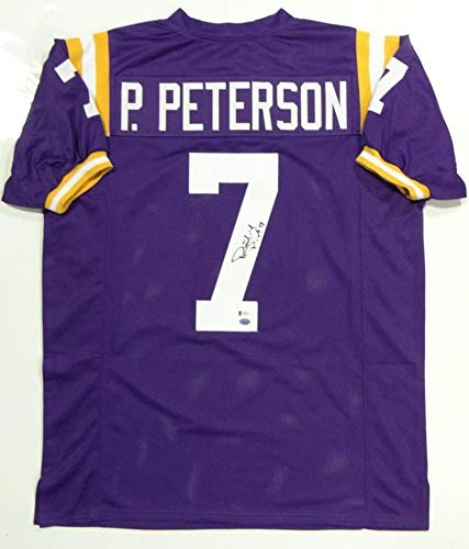 (Patrick Peterson Autographed Signed Purple College Style Jersey- Beckett Authenticated - Certified Signature)