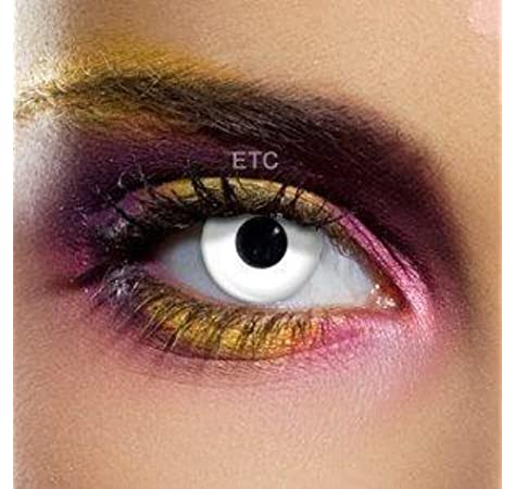 Lentillas de contacto color anual - Colour Vision Crazy Lens WHITE OUT - Sus ojos no se parecerán!: Amazon.es: Salud y cuidado personal