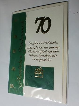 70 Geburtstag Geburtstagskarte Glückwunschkarte Grusskarte