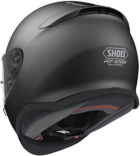 Shoei Solid RF-1200 Sports Bike Racing Motorcycle Helmet - Matte Black / Large by Shoei