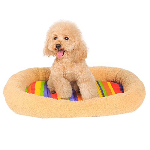 Pet Bed, Hansee Winter Gift for Pets Pet Supplies letto cuccia cane gatto comfort strisce coloreate Pet Pad