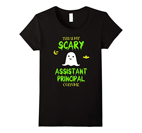 Womens Scary Assistant Principal Costume Halloween T-Shirt Large Black (Principal Halloween Costume Ideas)