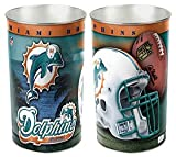 Miami Dolphins 15'' Waste Basket