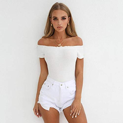 - Blu Ivory Market Shoulder Solid Jumpsuit Women Summer Body Slim