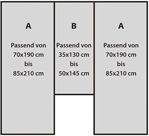 419R3eX4RzL Fiducia Spannbettlaken 3er-Set für Wohnmobil oder Wohnwagen - Heckbett - Single-Jersey - Platin - Größe 70x190 cm…