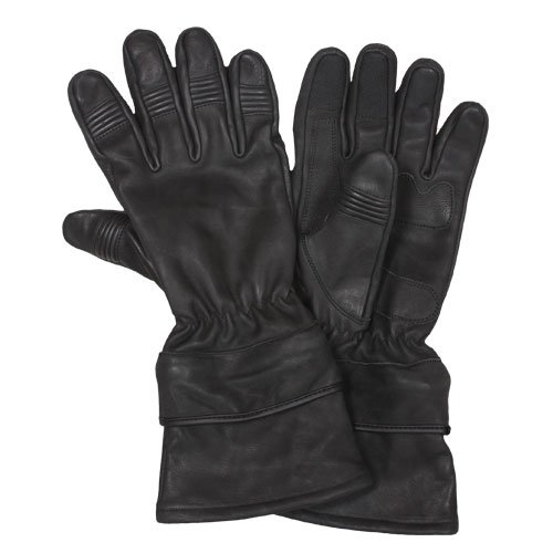 Fox Outdoor Products All Leather Motorcycle Gloves, Black, Small