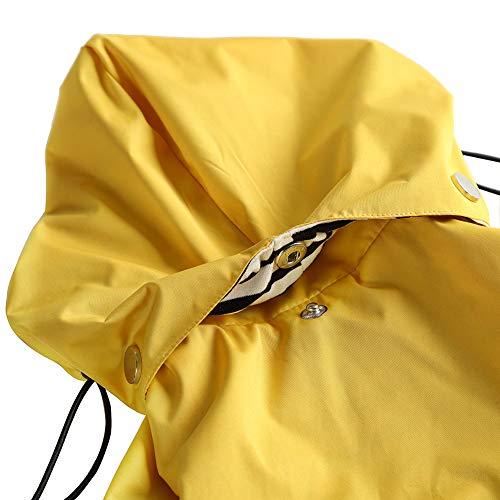 Morezi Dog Zip Up Dog Raincoat with Reflective Buttons, Rain/Water Resistant, Adjustable Drawstring, Removable Hood, Stylish Premium Dog Raincoats - Size XS to XXL Available
