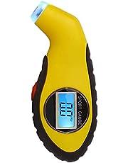 جهاز رقمى قياس ضغط الهواء فى اطارات السيارات لون اصفر رقم الصنف 1036 - 1