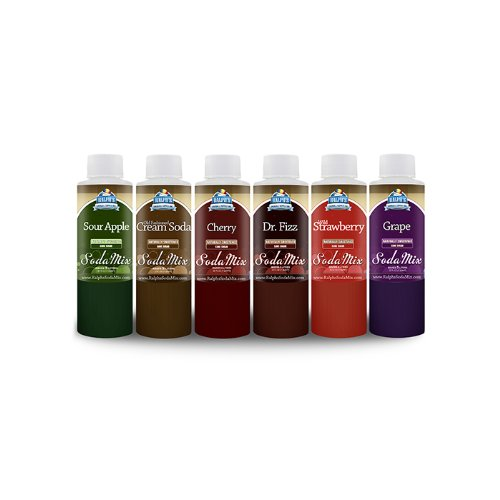 Ralph's Sodamix 6 Flavor Sample Pack (Soda Stream Syrup Grape compare prices)