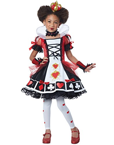California Costumes Deluxe Queen Of Hearts Costume, Red/Black/White, Medium - Alice In Wonderland White Queen Costumes