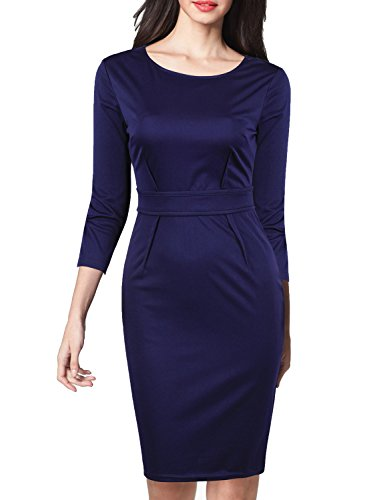blue work dress - 8