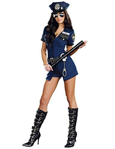 [Legou Sexy Lingerie Police Cop Uniform CostumeInclude Uniform+Hat] (Sexy Cop Uniform)