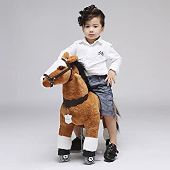 UFREE Horse Action Pony, Walking Horse Toy, Rocking Horse with Wheels Giddy up Ride on for Kids Aged 3 to 5 Years Old