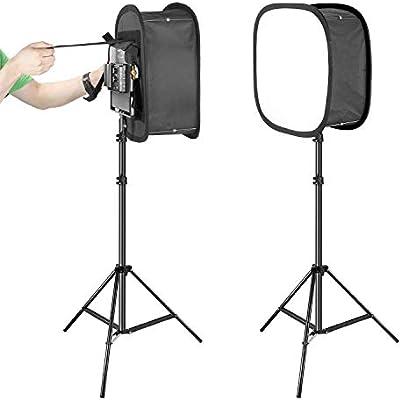 Neewer 2-Pack 480 LED Luz Video Panel LED Bicolor Regulable (3200-5600K, CRI 96+) Soporte Luz de 2m y Difusor Softbox para Retrato de Producto de Estudio Fotográfico Fotografía Video Youtube: Amazon.es: Electrónica