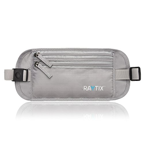 (Travel Money Belt: Safe, Well Designed & Comfortable Money Carrier For Travelling & More - Blocks RFID Transmissions – Secure, Hidden Travel Wallet With Adjustable Straps, Lightweight & Thin (GRAY))
