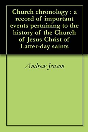 Amazon.com: Church chronology : a record of important ...