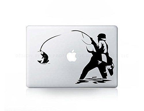 Price comparison product image Fishing Fly Fish Sticker Decal For MacBook Pro, PC, Laptop, Window, Car, or Wall