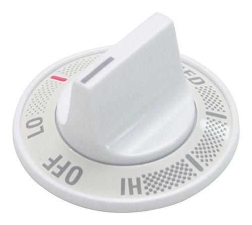 - GE WB03X10041 Surface Unit Knob - White