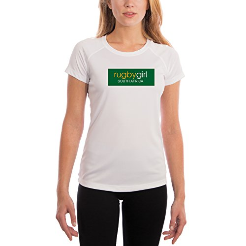 South Africa Rugby Girl Women's UPF 50+ Performance T-shirt Medium White by Rugby America Limited