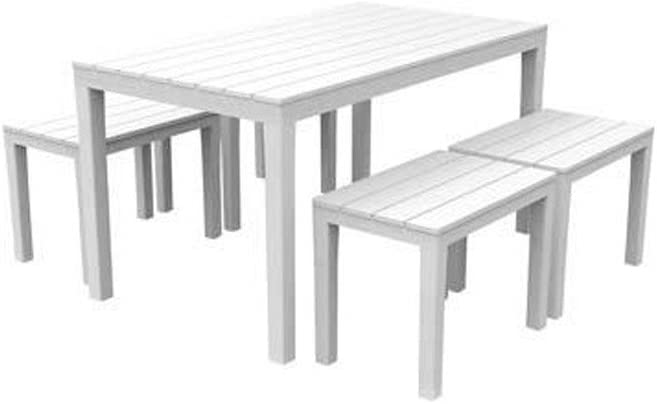 Ipae-Progarden Samoa Set, plástico, Blanco, 30x 30x 30cm