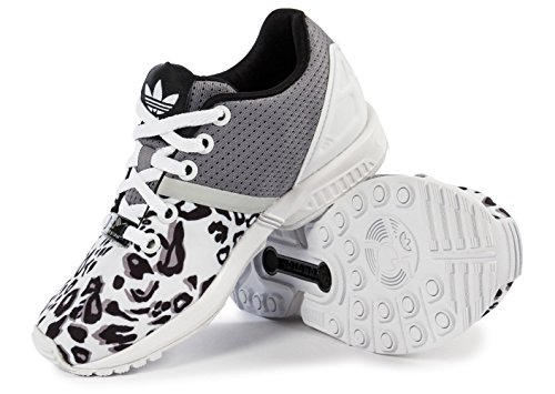 Adidas - Adidas Zx Flux Split K Scarpe Sportive Donna Bianche Tela S78735 negro/gris/blanco