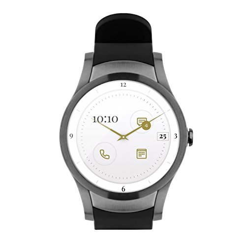 Wear24 Android Wear 2.0 42mm 4G LTE WiFi+Bluetooth Smartwatch (Gunmetal Black) by Quanta (Image #1)