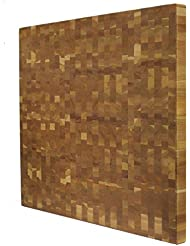 Kobi Blocks Cherry End Grain Butcher Block Wood Cutting Board 30 X 30 X 3