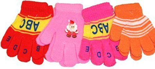 Four Pairs Magic Gloves for Infants and Toddlers Ages 1-4 Years Imported Magic Gloves