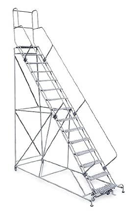 Rodillo escalera, sin montar, pasamanos, plataforma 150 pulgadas de alto: Amazon.es: Amazon.es