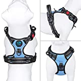 PHOEPET No Pull Dog Harness Reflective Adjustable