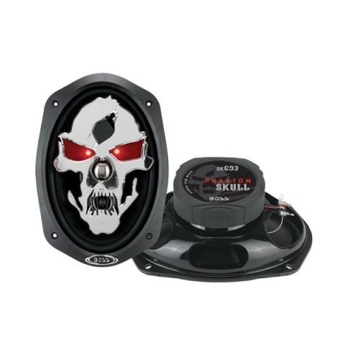 2 New BOSS Skull SK693 6x9 600W 3 Way Coaxial Car Speakers Stereo Audio