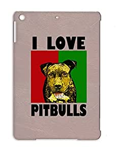 Pit Dogs Animals Nature Pitt Pitbull Love Bob Dogs Marley RAGGAE TPU Red For Ipad Air Ilpitbullsblackfont.png Protective Case
