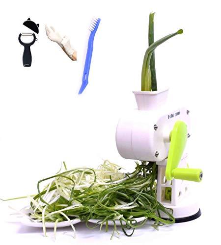 Hoho com Peeler kitchaide chopper Ultra Sharp Cylinders Green Onion Slicer Kitchen Vegetable Cutter (White)/ vegetable Peeler/Cleaning brush/Latex ()