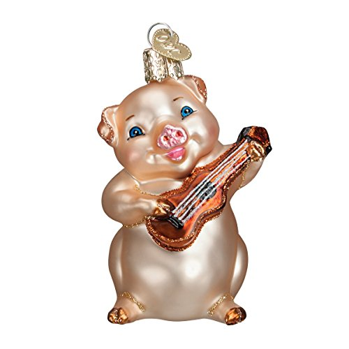 Glass Blown Pig (Old World Christmas Musical Pig Glass Blown Ornament)
