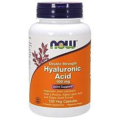 NOW  Hyaluronic Acid, 100mg, 120 Veg Cap...