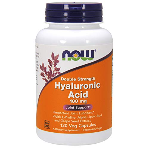 NOW® Hyaluronic Acid, 100mg, 120 Veg Caps