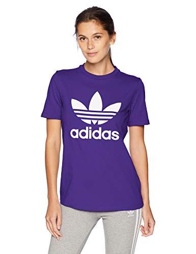 adidas Originals Women's Trefoil Tee, collegiate purple, X-Large