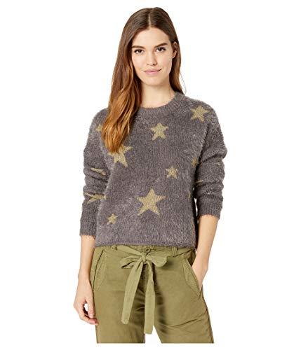 Metallic Nylon Sweater (Show Me Your Mumu Women's Cropped Varsity Sweater, Shine Star Knit, Large)