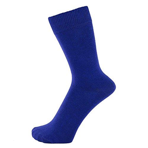 Argyle Cotton Hat - ZAKIRA Finest Combed Cotton Dress Socks in Plain Vivid Colours for Men, Women, 7-12 (US), Royal Blue