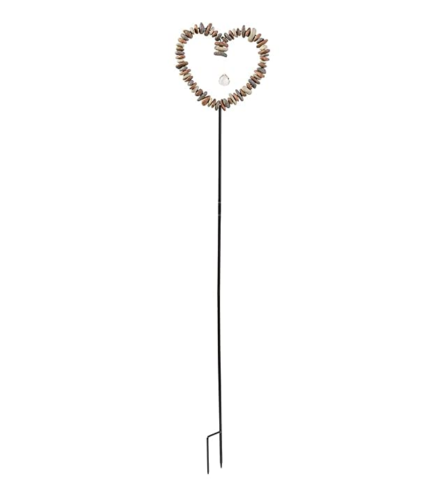 Rock Heart Decorative Garden Stake 10.25 W x 48 H x 1.5 D