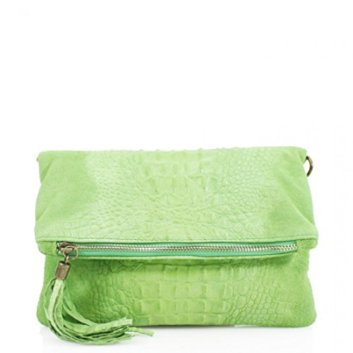 sn10 Body Galaxy Cross Bag Clutch Party Ladies Women Vp Linen Leather Prom Shoulder Green Snakeskin fvxntqncFW
