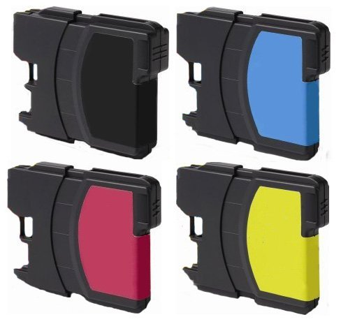 165c Color Brother Dcp (4 Pack (1 Black + 1 each color) Non-OEM Ink Cartridge for LC61 Brother (15.5mL Each Cartridge) DCP 165C MFC 250C 255CW 290C 295CN 385CW 490CW 585CW 790CW 5490CW 5890CW 6490CW)