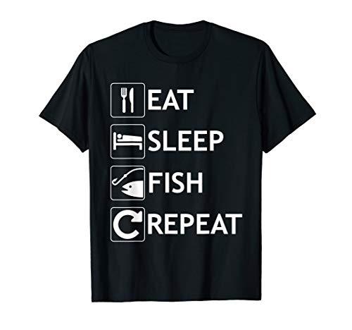 Eat T-shirt Fish - Eat Sleep Fish Repeat Funny Fishing  T-Shirt