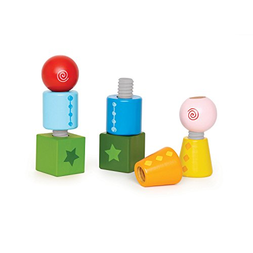 Hape Twist and Turnables Wooden Building Block Learning Set