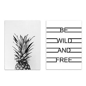 SODIAL 2 Stueck / Satz Nordeuropa Grau Ananas Buchstaben (Wild Und Frei)  Kreative Wohnzimmer