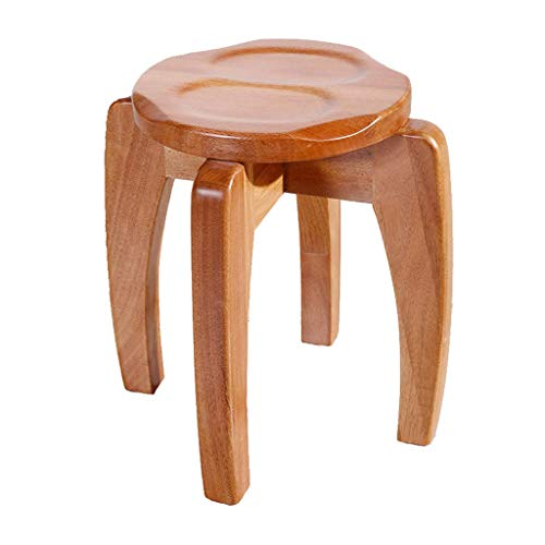 ZXUE Solid Wood Children's Round Stool Fashion Small Bench Does Not Deform Household Table Coffee Table Stool Log