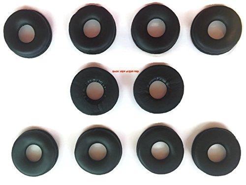 Leatherette Ear Cushions for VXI Headsets - Passport,TalkPro,BlueParrott - Jabra,Plantronics Corded Headsets Too- Quantity of 10