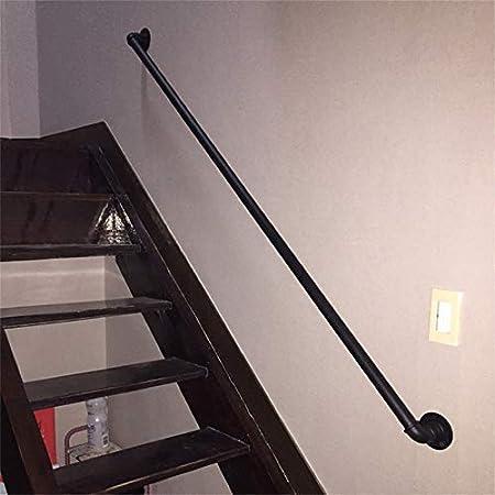 Barandilla de escalera de tubo negro de hierro forjado de 250 cm, valla de seguridad para niños mayores Barandillas antideslizantes para barandillas interiores y exteriores, con accesorios de montaje: Amazon.es: Hogar