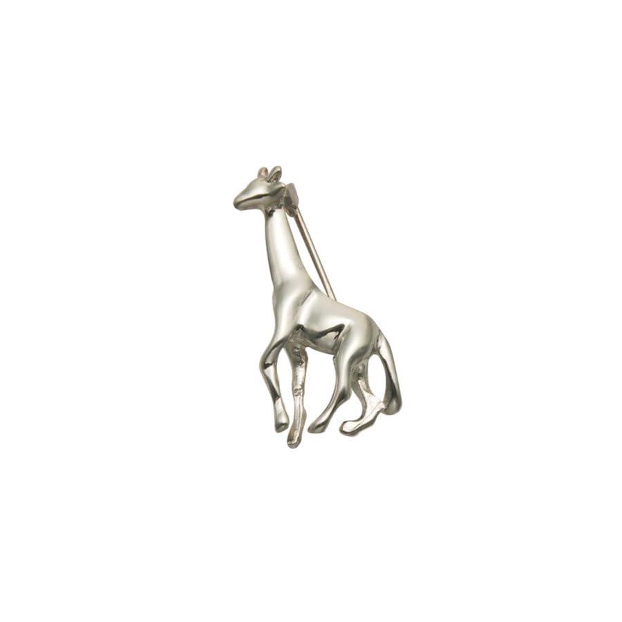 Sterling Silver Walking Giraffe Pin
